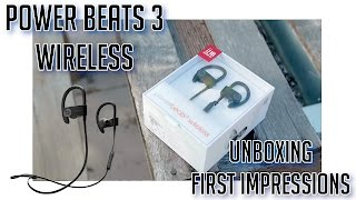 PowerBeats 3 Wireless Unboxing + First Impressions