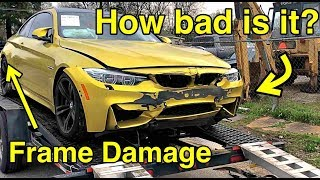 I Bought a Frame Damaged BMW M4 From Salvage Auction It WAS WORSE THAN I THOUGHT