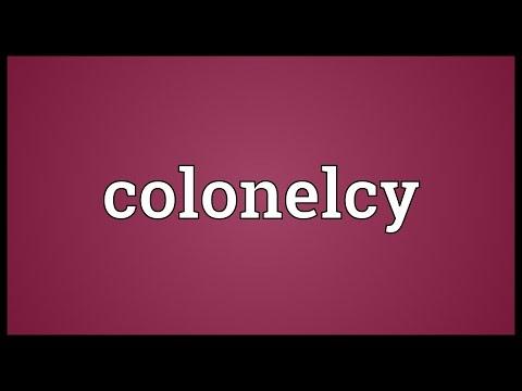 Header of colonelcy