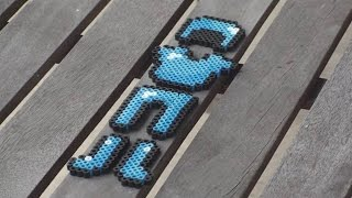 Minecraft Perler Bead Designs ep 4: How to make Diamond Armor (Minecraft) using Perler Beads