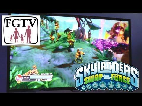 Skylanders Swap Force Huge 30 Min Gameplay Hands-on - Grim Creaper, Hoot Loop & Series 3 Spyro