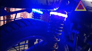 how to install led lights on bajaj  ct100 modified look 2019