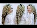 Свадебная прическа и вечерняя💞Прическа на выпускной💞 Wedding hairstyle tutorial 2017💞 Косы 2018