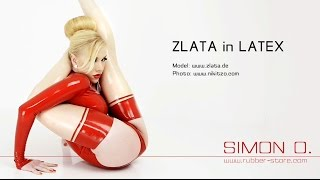 Contortionist Zlata in simono latex