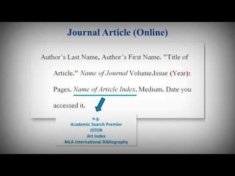 mla online journal article citation generator