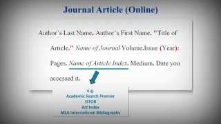 MLA Style Works Cited List: Citing Journal Articles