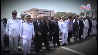 ضحايا الارهاب ضابط الشرطه والعسكرى فى موكب جنائزى مؤثر جدا