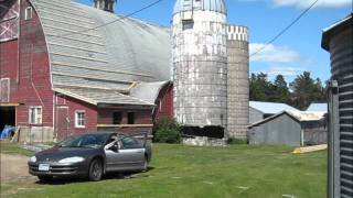Silo demolition by SILOMAN and his trusty Dodge Intrepid
