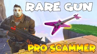Rare Gun SCAM!!😉🙄 (Scammer Get Scammed) In Fortnite Save The World