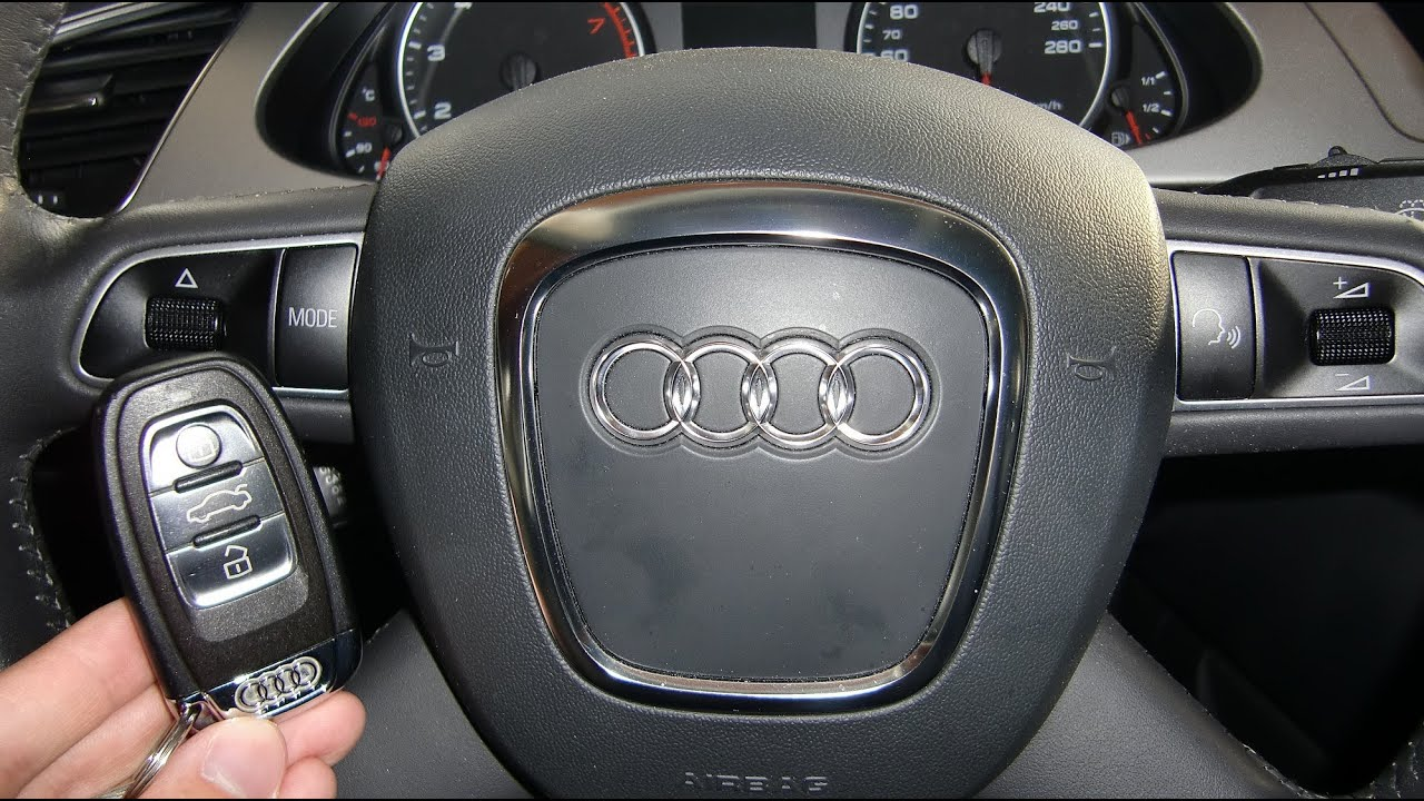 How To Start An Audi A4 2009 And Others With Ignition