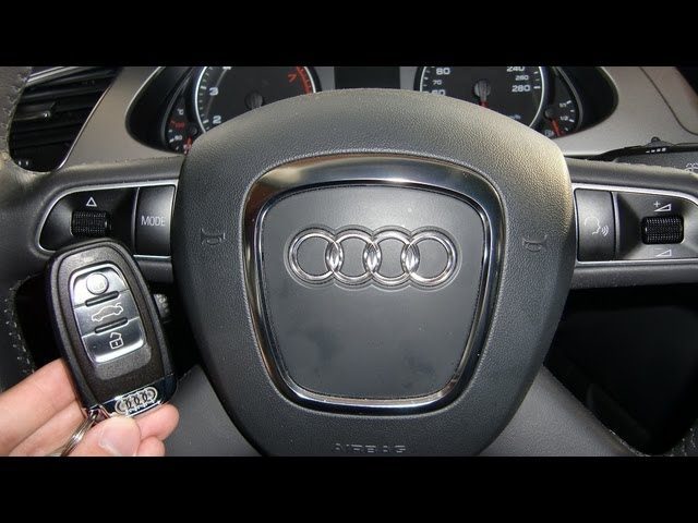 How to start an Audi A4 2009 (and others) with ignition ...