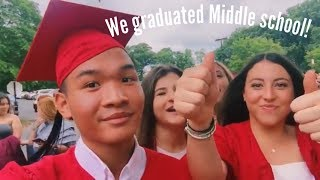 MIDDLE SCHOOL GRADUATION VLOG! 2018
