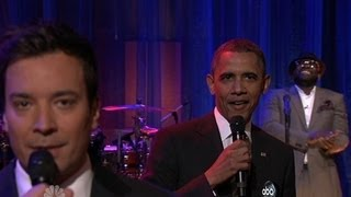 Jimmy Fallon and President Obama Slow Jams the News with The Roots