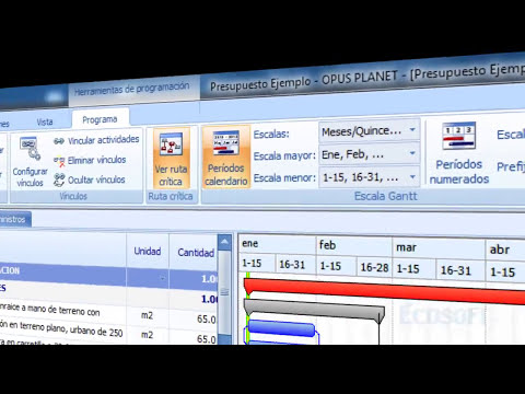 OPUS PLANET 2011. La nueva versión del Sistema de Ingeniería de Costos parte 1