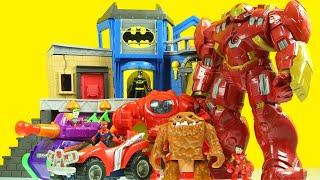 CLAYFACE eats everything BATMAN, SPIDERMAN IRON MAN HULK buster and JOKER Imaginext toys