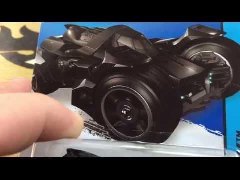 Hot Wheels New for 2015 Batman Arkham Knight Batmobile 60 Second Review!