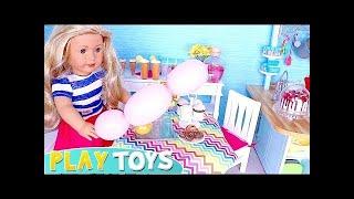 AG Doll Nấu ăn cho bữa tiệc trong Doll Kitchen Toy! 🎀