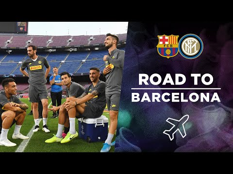 BARCELONA vs INTER | ROAD TO BARCELONA | From Milano to Camp Nou! ✈⚫