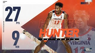 De'Andre Hunter posts 27 points in Virginia's national championship victory