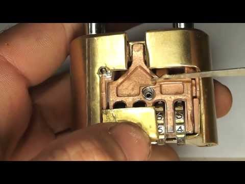 How to Open a Master Lock 175 in 3 Sec. Cutaway Bypass Lock Picking