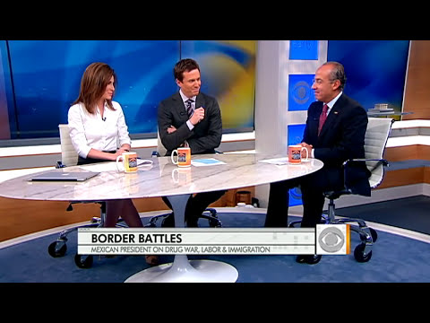 The Early Show - Mexican Pres. Calderon on drug war, immigration