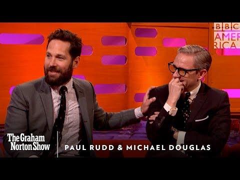 Paul Rudd's Weird Michael Douglas Prank - The Graham Norton Show