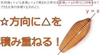 y=axの周りの回転体の体積の求め方【高校数学Ⅲ】