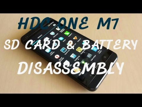 HDC ONE M7 MTK6589 - How to remove the sd card and battery tutorial!
