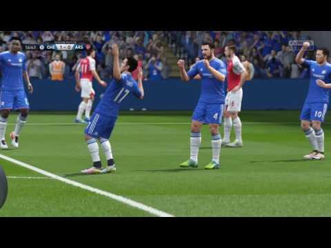 FIFA 16_Pedro goal against arsenal online season match