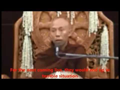 A Burmese Buddhist,U Pyin Nyar Wa Ra,extremist monk (English Sub-title)