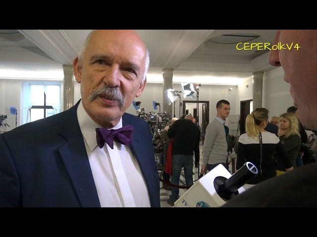 Janusz Korwin-Mikke o Trybunale Konstytucyjnym, uchwaleniu budżetu i blokowaniu mównicy w Sejmie