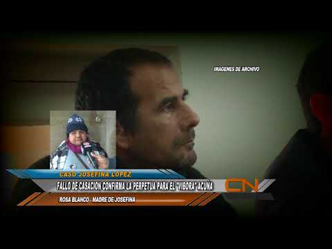 La Justicia ratificó la prisión perpetua para el asesino de Josefina López