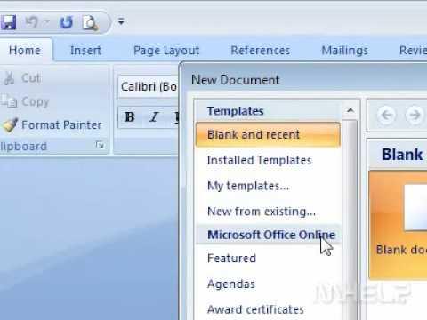 Microsoft word memo format