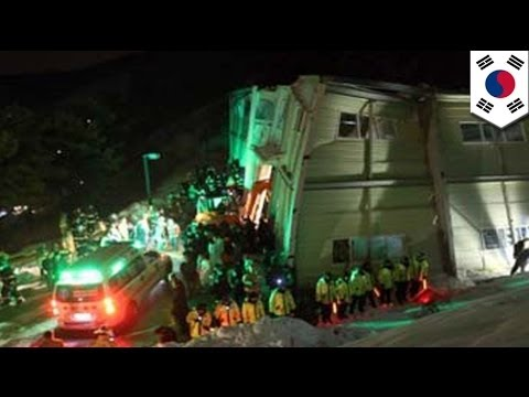 South Korea college building collapses, at least nine dead