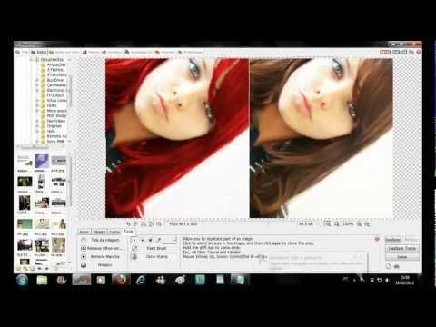 Como mudar a cor do cabelo no PhotoScape