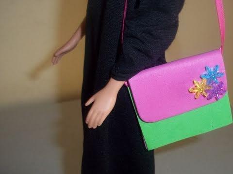 Cómo hacer una cartera o bolsa para muñecas