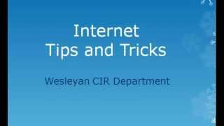 Cool Internet Tips and Tricks
