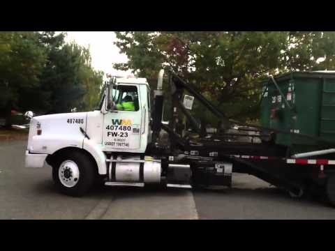 Seattle Waste Management truck costing union strike line