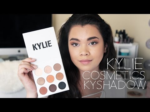 ❤KYLIE COSMETICS Kyshadow The Bronze Palette Review. First Impression. swatches. demo