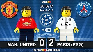 Manchester United vs PSG Paris Saint-Germain 0-2 • Champions League 2019 • Goals Highlights Lego