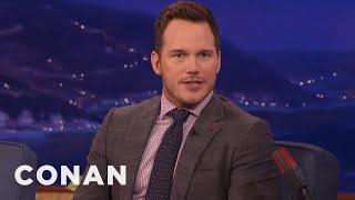 Chris Pratt Sends Nick Offerman And Adam Scott Photos Of His Poop - CONAN on TBS