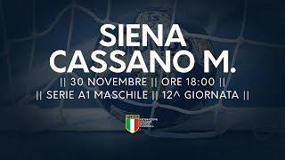 Serie A1M [12^]: Siena - Cassano Magnago 23-30