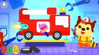 Xe Cứu Hỏa & Xe Đua Thể Thao - Fire Engine | Car Game For Kids | TopKidsGames (TKG) 322