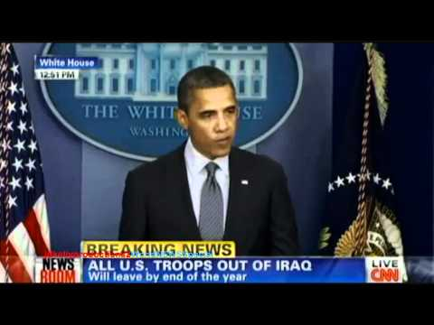 iraq war ends  obama