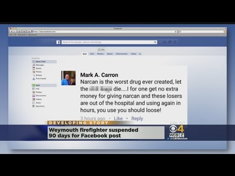 Weymouth Firefighter Suspended For Facebook Post