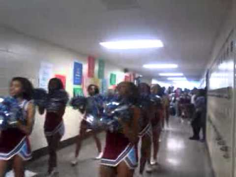 North forsyth high school hallway pep rally:)
