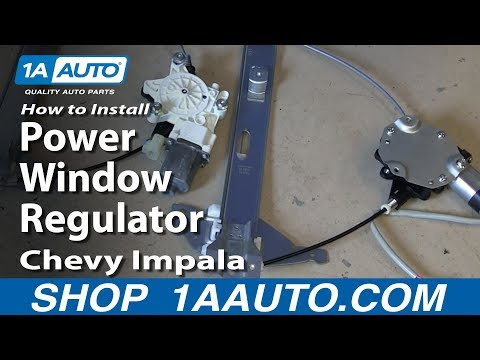 How to install replace rear power window regulator 2006 12 for 2001 chevy impala window regulator