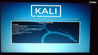 Run Kali Linux live without installation