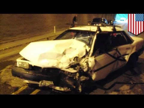 Driver, nawalan ng malay at nag-crash, habang pinipigilan ang sariling paghinga sa isang tunnel!
