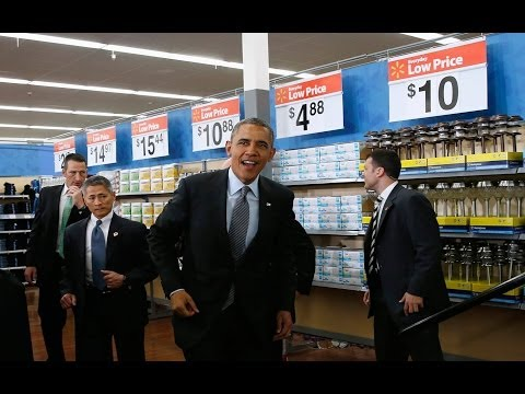 Ridiculous: Obama at Walmart for Climate Change Campaign